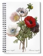 Redoute: Anemone, 1833 Spiral Notebook