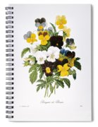 Redoute: Pansy, 1833 Spiral Notebook