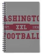 Redskins Retro Shirt Spiral Notebook