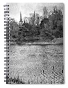 Reeds And Religion Black And White Spiral Notebook