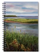 Reeds By The Water Spiral Notebook