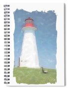 Reflect At Cape George Lighthouse Spiral Notebook