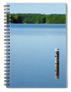 Reflected Warning Spiral Notebook