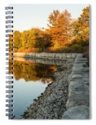 Reflecting On Autumn - Gray Rocks Highlighting The Foliage Brilliance Spiral Notebook