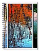 Reflecting On Autumn - Triptych Spiral Notebook