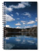 Reflecting On Crater Lake Spiral Notebook