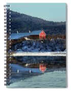 Reflecting On Farms By Connecticut Spiral Notebook