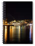 Reflecting On Malta - Cruising Out Of Valletta Grand Harbour Spiral Notebook