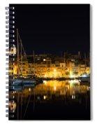 Reflecting On Malta - Senglea Golden Night Magic Spiral Notebook