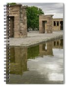 Reflecting On Millennia - Egyptian Temple Of Debod In Madrid Spain  Spiral Notebook
