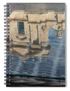 Reflecting On Noto Cathedral Saint Nicholas Of Myra - Sicily Italy Spiral Notebook