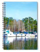 Reflecting The Masts - Watercolor Style Spiral Notebook