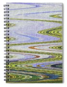 Reflection Abstract Abstract Spiral Notebook
