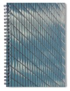 Reflection Clouds On Building Spiral Notebook