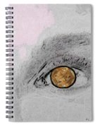 Reflection In A Golden Eye Spiral Notebook
