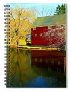 Reflection In Red Spiral Notebook
