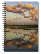 Reflection Of Clouds And Lighthouse Spiral Notebook