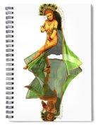 Reflection Of Golden Kali Dancer Spiral Notebook