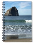 Reflection Of Haystock Rock  Spiral Notebook