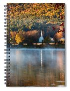 Reflection Of Little White Church With Fall Foliage Spiral Notebook