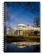 Reflection Of Monticello Spiral Notebook