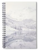 Reflection Of Snowcapped Mountains Spiral Notebook