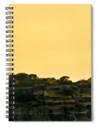 Reflection Of Sunset At North Head Spiral Notebook