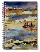 Reflection Of Sunset Glow Spiral Notebook