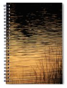Reflection On A Sunset Spiral Notebook