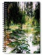 Reflection On Oscar - Claude Monet's Garden Pond Spiral Notebook