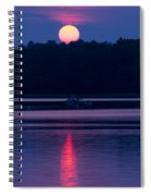 Reflection On The Bay Spiral Notebook
