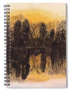 Reflections At Sunset On Bitely Lake Spiral Notebook