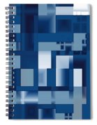 Reflections In Blue Spiral Notebook