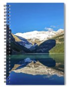 Reflections In The Water At Lake Louise, Canada Spiral Notebook