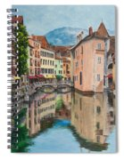 Reflections Of Annecy Spiral Notebook
