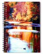 Reflections Of October Spiral Notebook