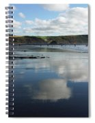 Reflections Of Widemouth Bay Spiral Notebook