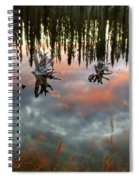 Reflections Off Pond In British Columbia Spiral Notebook