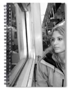 Reflections On A London Train Spiral Notebook