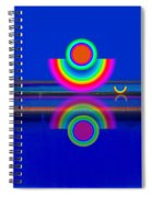 Reflections On Blue Spiral Notebook