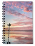 Reflections On Falling Dusk Spiral Notebook
