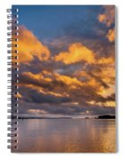 Reflections On Fire Sunset Spiral Notebook