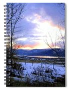 Reflections On Lake Okanagan Spiral Notebook