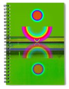 Reflections On Lime Spiral Notebook