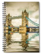 Reflections On Tower Bridge Spiral Notebook