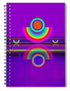 Reflections On Violet Spiral Notebook