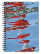 Reflections - Red White Blue Spiral Notebook