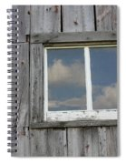 Reflective Clouds Spiral Notebook