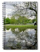 Reflective Field In Spring Spiral Notebook
