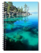 Reflective Liquid Dreams Spiral Notebook